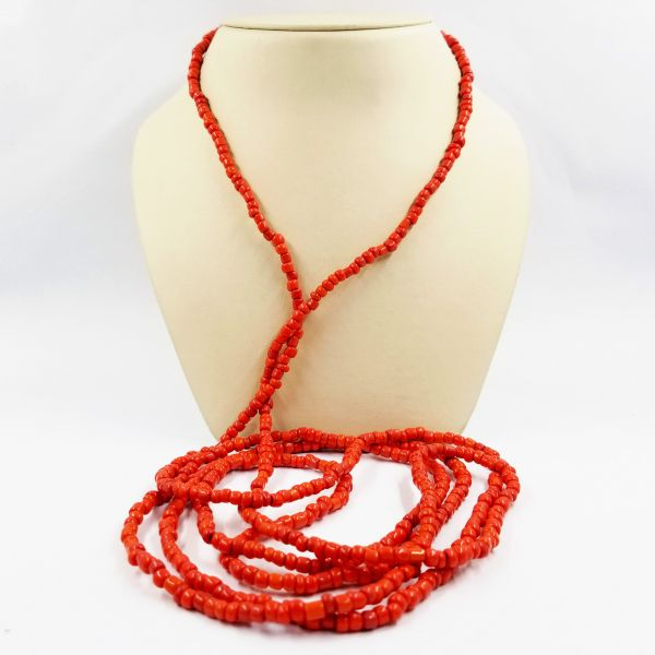 Long Coral Necklace Image 2 Jae's Jewelers Coral Gables, FL