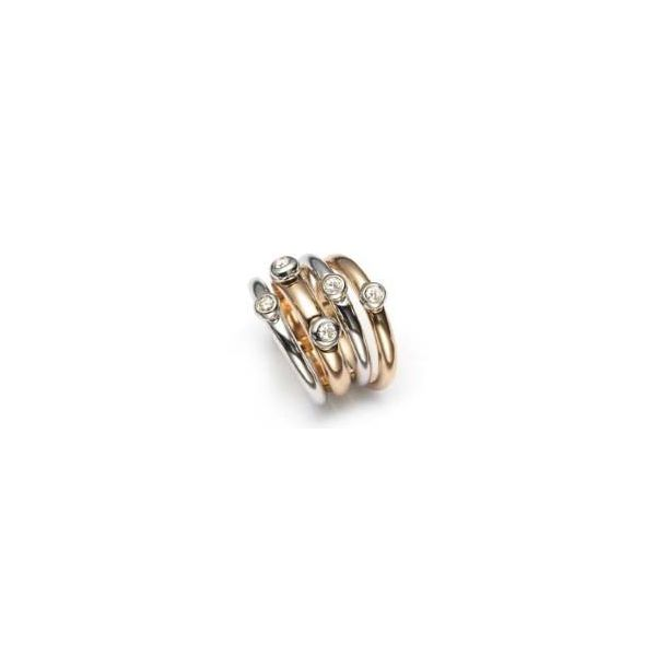 Fedine Two-Tone Diamond Ring Jae's Jewelers Coral Gables, FL