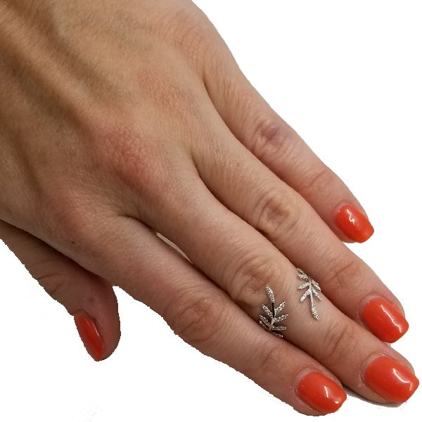 Mid Finger Leaf Ring Image 2 Jae's Jewelers Coral Gables, FL