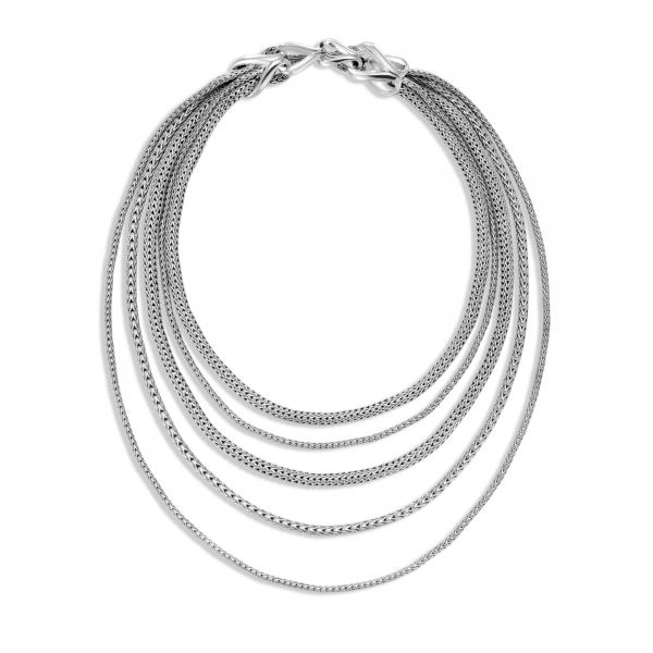 Asli Classic Chain Link Bib Necklace Image 4 Jae's Jewelers Coral Gables, FL
