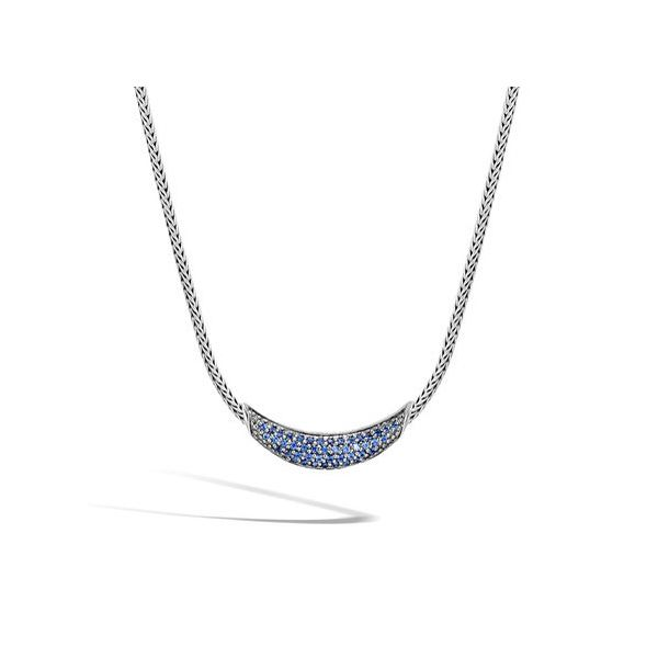 Classic Chain Necklace with Blue Sapphire Jae's Jewelers Coral Gables, FL