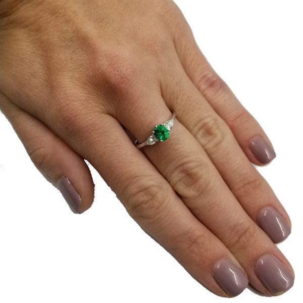 Oval Emerald Ring Image 2 Jae's Jewelers Coral Gables, FL