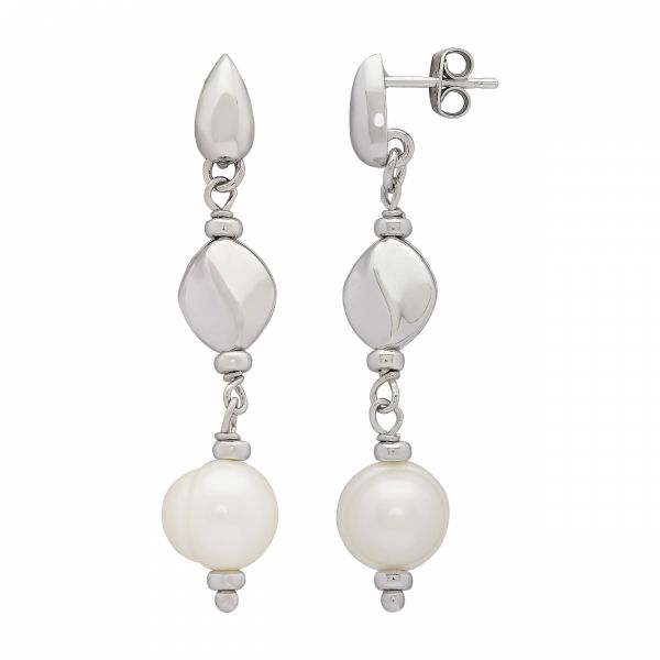Dots & Dashes Pearl Earrings Jae's Jewelers Coral Gables, FL