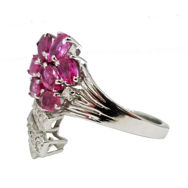 Pink Sapphire and Diamond Flower Ring Image 2 Jae's Jewelers Coral Gables, FL