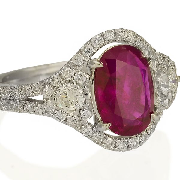 Unheated Burmese Ruby Ring Image 2 Jae's Jewelers Coral Gables, FL