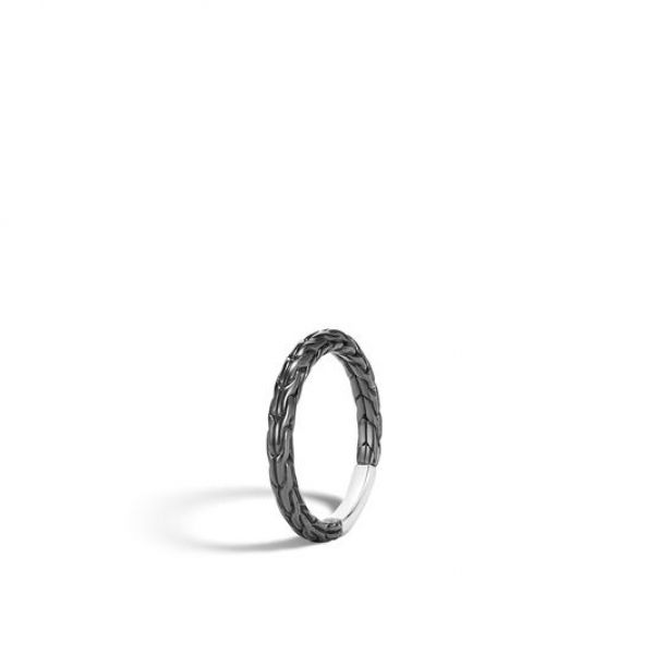 Classic Chain Blackened Band Ring Image 2 Jae's Jewelers Coral Gables, FL