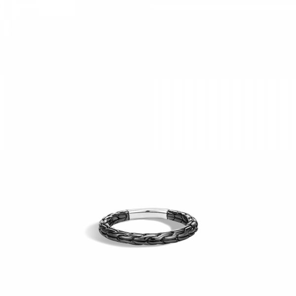 Classic Chain Blackened Band Ring Jae's Jewelers Coral Gables, FL