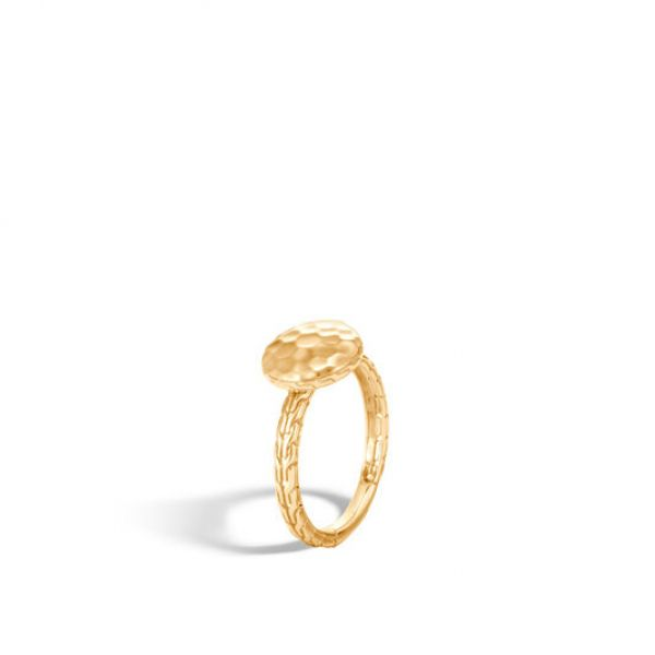 Dot Hammered Ring Image 2 Jae's Jewelers Coral Gables, FL