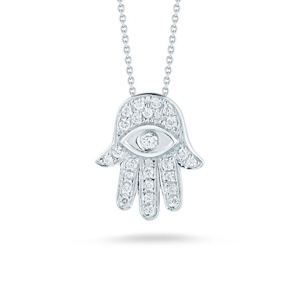 Tiny Hamsa Necklace Jae's Jewelers Coral Gables, FL
