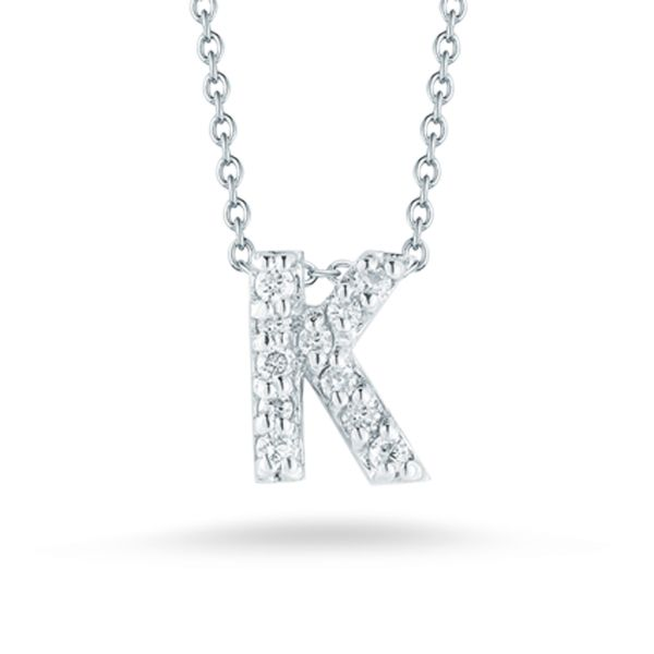 Tiny Initial ''K'' Necklace Jae's Jewelers Coral Gables, FL