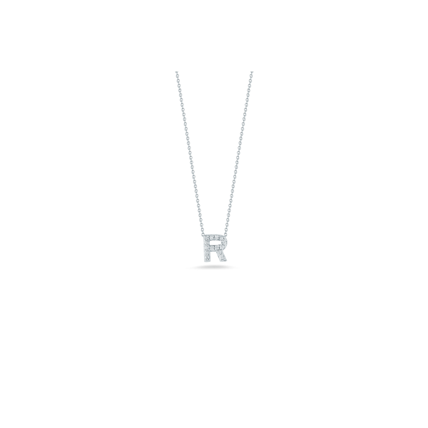 Tiny Initial ''R'' Necklace Image 2 Jae's Jewelers Coral Gables, FL