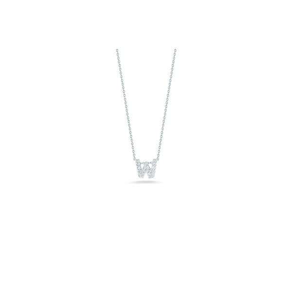 Tiny Initial ''W'' Necklace Image 2 Jae's Jewelers Coral Gables, FL