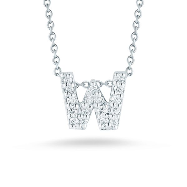 Tiny Initial ''W'' Necklace Jae's Jewelers Coral Gables, FL