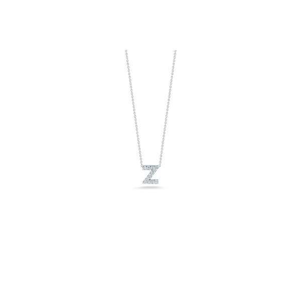 Tiny Initial ''Z'' Necklace Image 2 Jae's Jewelers Coral Gables, FL