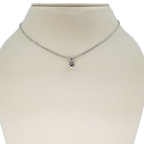 Round Solitaire Pendant and Necklace Jae's Jewelers Coral Gables, FL