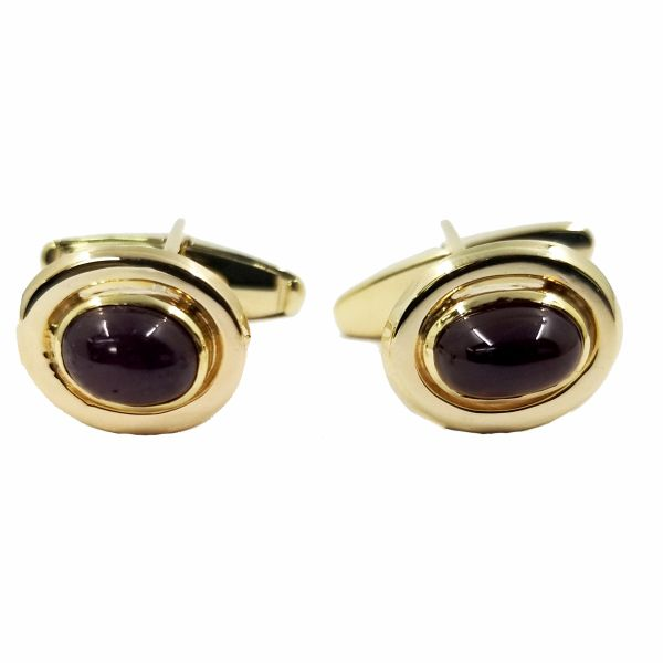 Cabochon Ruby Cufflinks Jae's Jewelers Coral Gables, FL