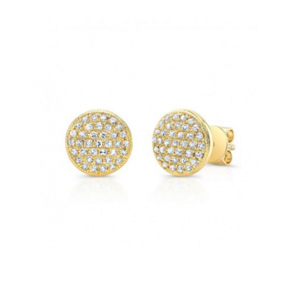 Round Pave Earrings Jae's Jewelers Coral Gables, FL