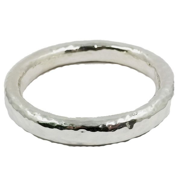 Silver Hammered Bangle Jae's Jewelers Coral Gables, FL