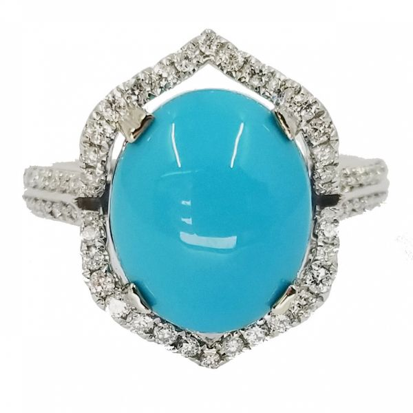 Turquoise and Diamond Ring Jae's Jewelers Coral Gables, FL