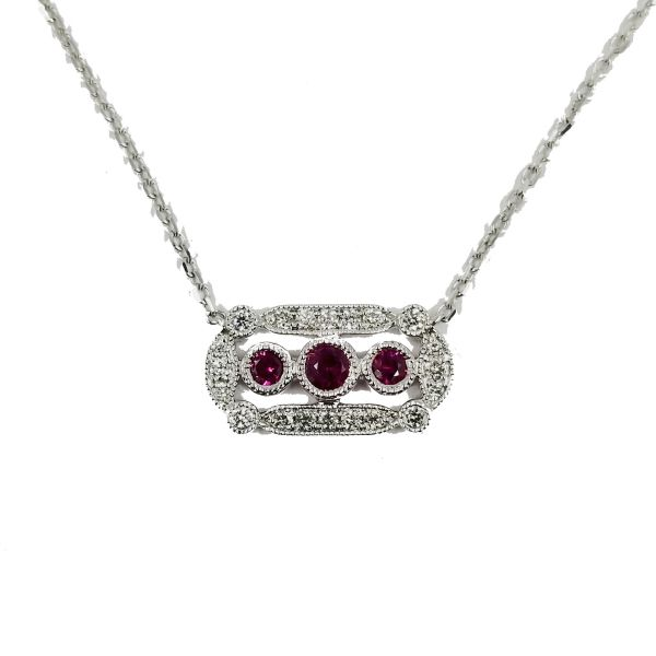 Vintage Inspired Ruby Necklace Jae's Jewelers Coral Gables, FL