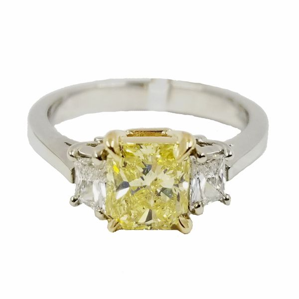 1.00 Carat Fancy Vivid Yellow Diamond Ring Jae's Jewelers Coral Gables, FL