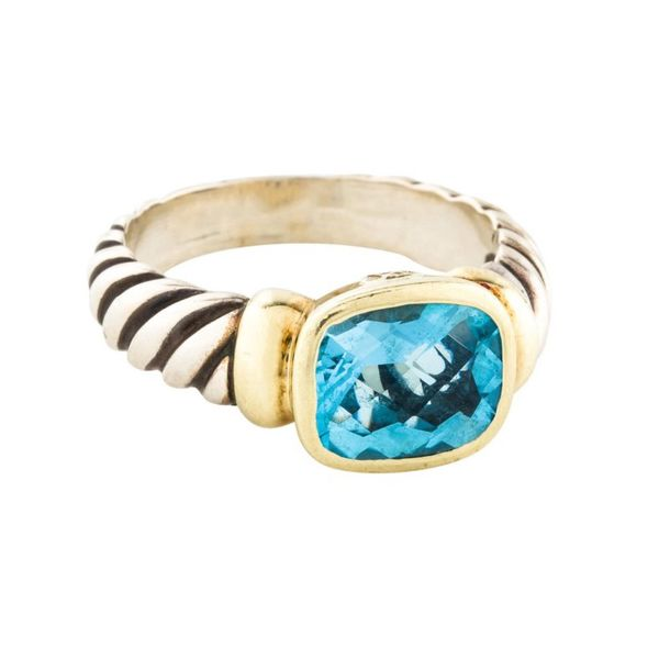 David Yurman Blue Topaz Noblesse Collection Ring Jae's Jewelers Coral Gables, FL