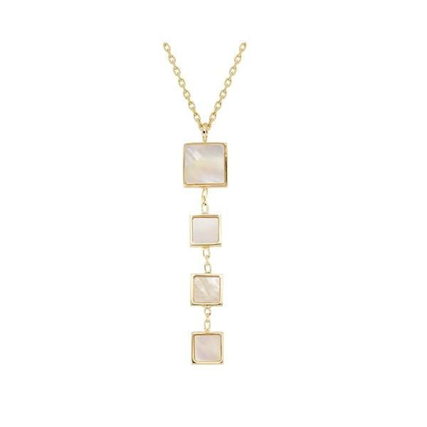 Square Mother Of Pearl Necklace Jae's Jewelers Coral Gables, FL