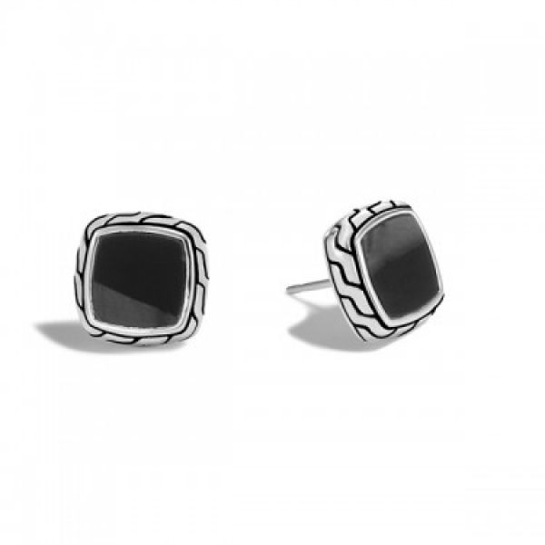 Classic Chain Black Onyx Stud Earrings Jae's Jewelers Coral Gables, FL