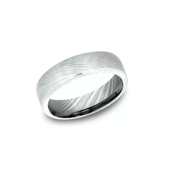 Damascus Steel wedding Band Johnny's Lakeshore Jewelers South Haven, MI