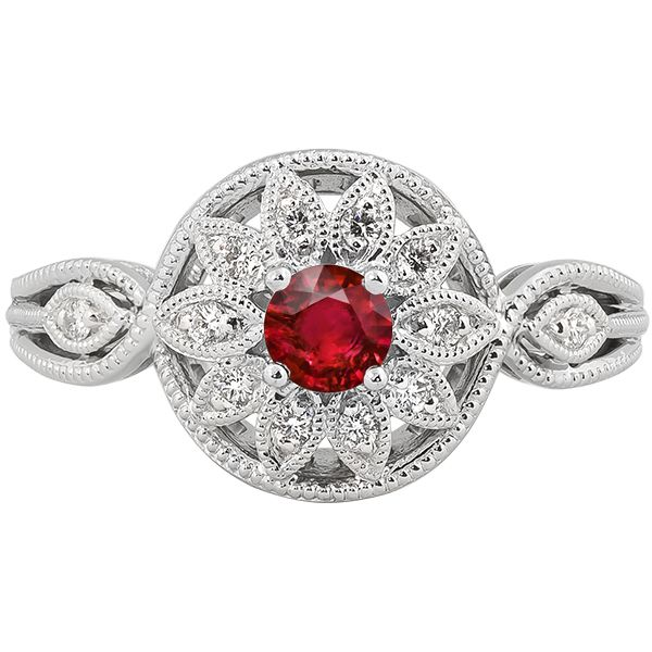 Ruby and Diamond Fashion Ring Johnny's Lakeshore Jewelers South Haven, MI