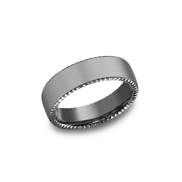 Tantalum Rivet Edge Band Johnnys Lakeshore Jewelers South Haven, MI