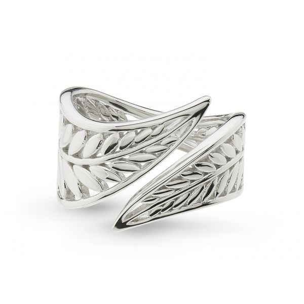 Silver Wrapped Leaf Ring Image 2 Johnny's Lakeshore Jewelers South Haven, MI