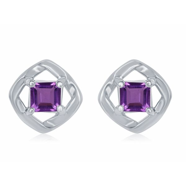 Silver Earrings with Amethyst  Johnny's Lakeshore Jewelers South Haven, MI