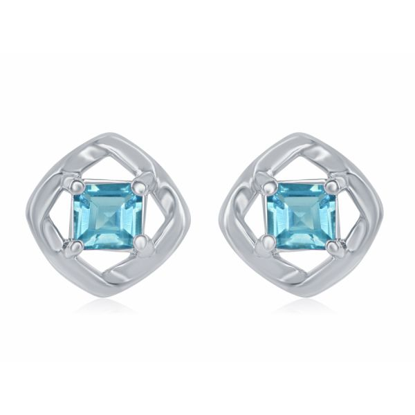 Silver Earrings with Blue Topaz Johnny's Lakeshore Jewelers South Haven, MI