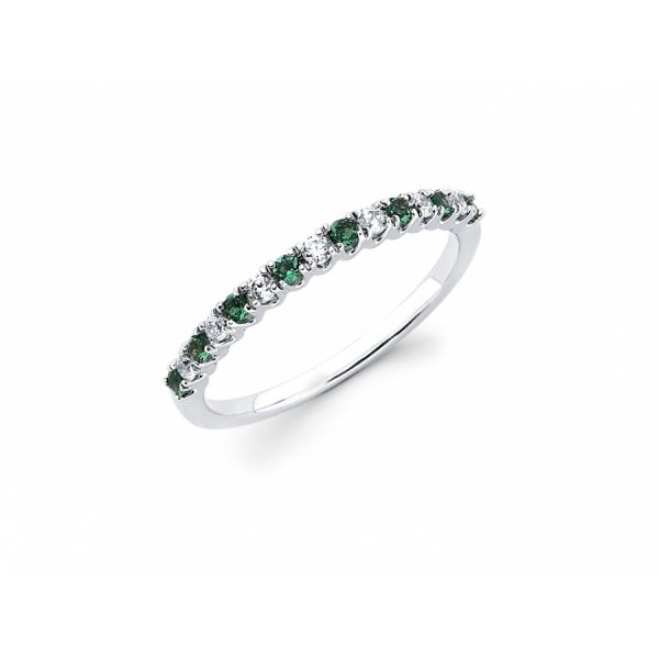 Diamond and Created Emerald Ring Johnny's Lakeshore Jewelers South Haven, MI