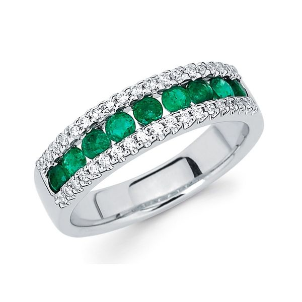 Diamond and Emerald Band Johnny's Lakeshore Jewelers South Haven, MI
