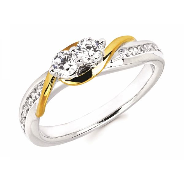 1/2 Ctw Diamond Two-Stone Fashion Ring Johnny's Lakeshore Jewelers South Haven, MI