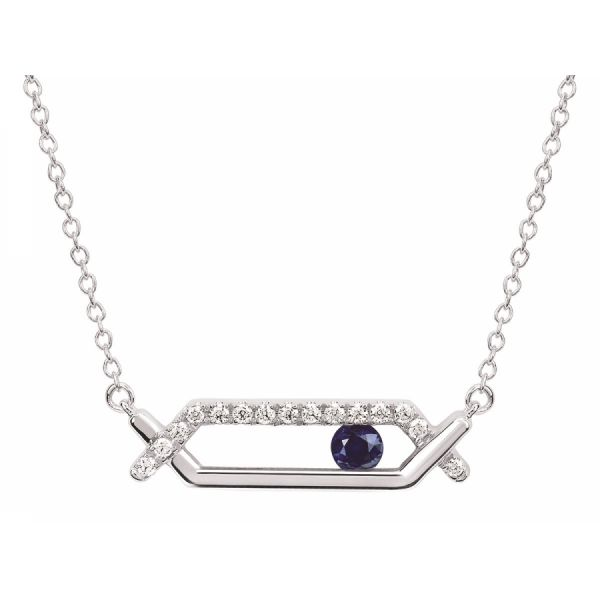 Sliding Sapphire Necklace Johnny's Lakeshore Jewelers South Haven, MI