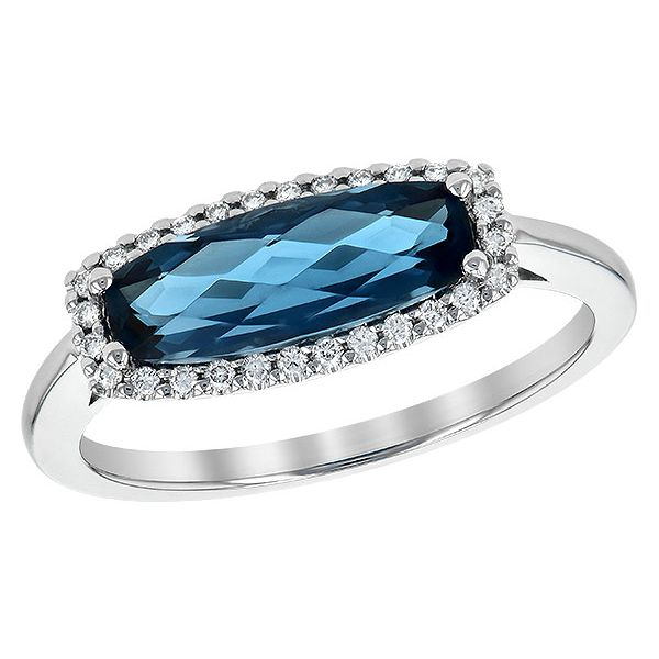 Blue Topaz and Diamond Ring Johnny's Lakeshore Jewelers South Haven, MI