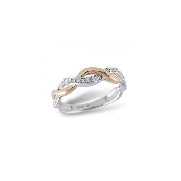 two tone swirl diamond band 14k rose gold 14k white gold with diamonds twist