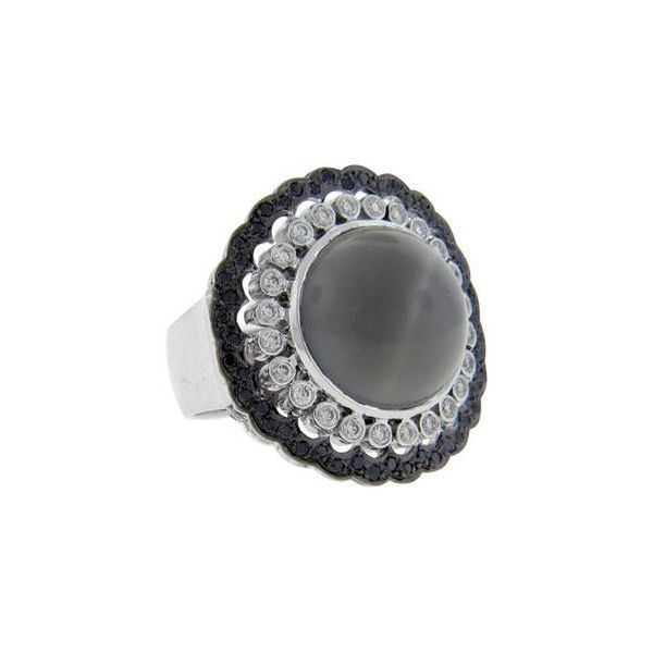 18k white gold grey moonstone and diamond ring sethi couture