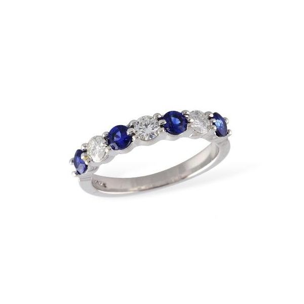14k white gold sapphire and white diamond ring allison kaufman
