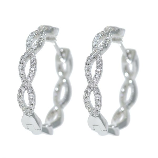Diamond Hoop Earring Malak Jewelers Charlotte, NC