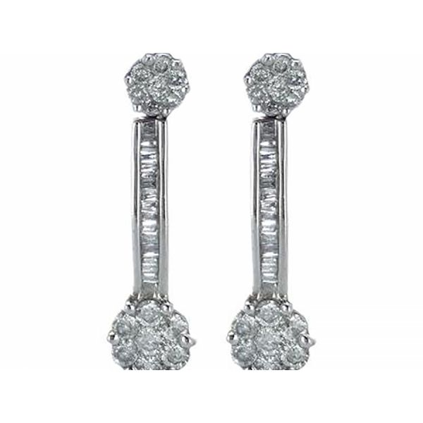 Diamond Star Drop Earring Malak Jewelers Charlotte, NC