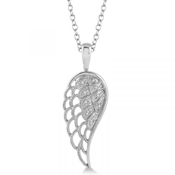 Sterling Silver Diamond Angel Wing Pendant Martin Busch Inc. New York, NY