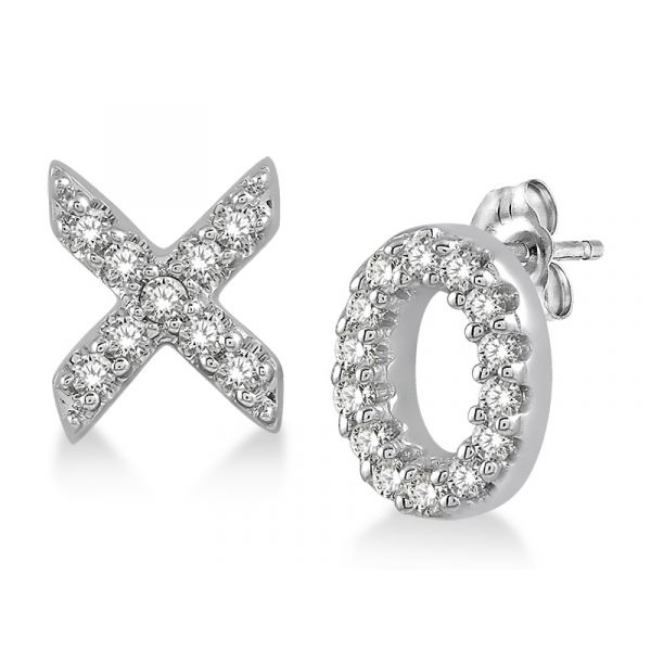 X & O Diamond Earrings Martin Busch Inc. New York, NY