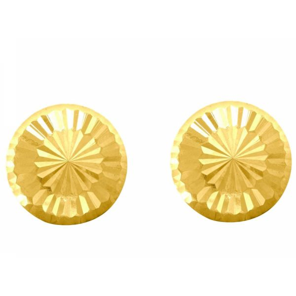 Gold Button Earrings Martin Busch Inc. New York, NY