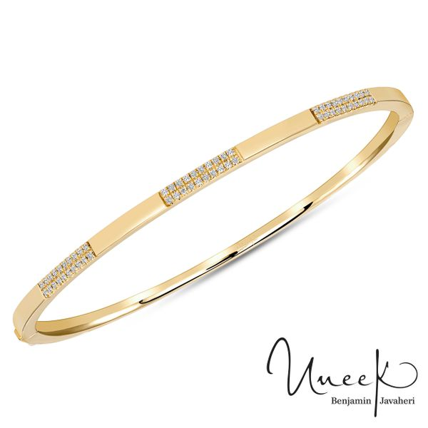Uneek Diamond Stackable Bangle in 14K Yellow Gold - LVBAAS2899Y Javeri Jewelers Inc Frisco, TX