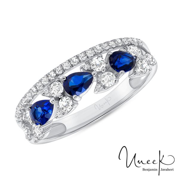 Uneek Blue Sapphire Fashion Ring in 14K White Gold - LVBAD312WBS Javeri Jewelers Inc Frisco, TX