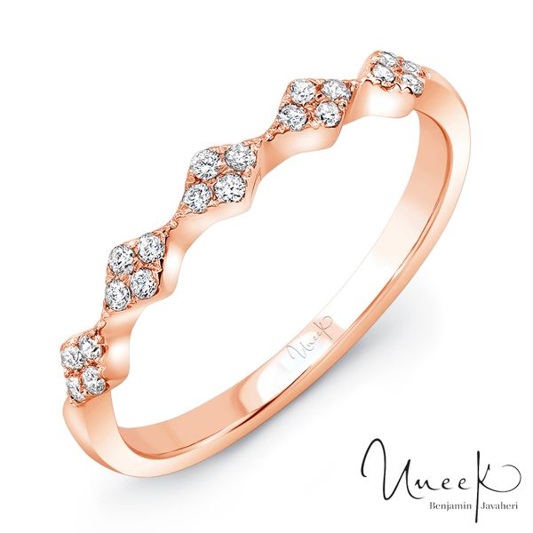 "Uneek ""Mulholland"" Stackable Diamond Band in 14K Rose Gold - LVBWA122R Javeri Jewelers Inc Frisco, TX"